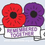 poppy badge remembered together 2